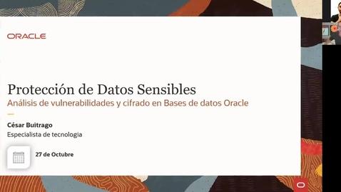 Thumbnail for entry Deep Dive DBSAT y Advanced Security: Análisis de vulnerabilidades y protección de la Base de Datos (27.10.2020)