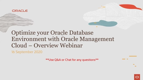 Thumbnail for entry Optimize your Oracle Database Environment with Oracle Management Cloud – Overview Webinar