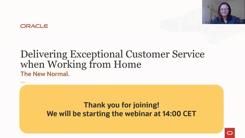 Thumbnail for entry CX Service Webinar: Delivering Exceptional Service When Working From Home