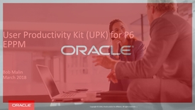 Thumbnail for entry User Productivity Kit (UPK) for P6 EPPM Customers