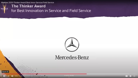 Thumbnail for entry DaimlerEMEA-SmartCenter-Markies 2020-Thinker Award Nomination