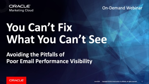 Thumbnail for entry Poor Email Performance Visibility: You Can't Fix What You Can't See