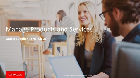 Thumbnail for entry Manage Products and Services