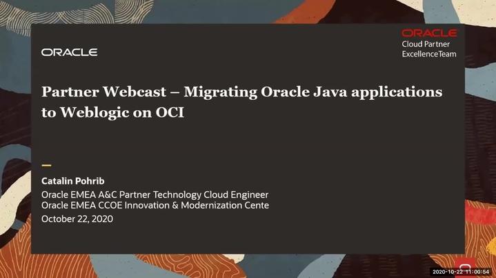 Thumbnail for channel Oracle Partner CCOE Innovation Modernization