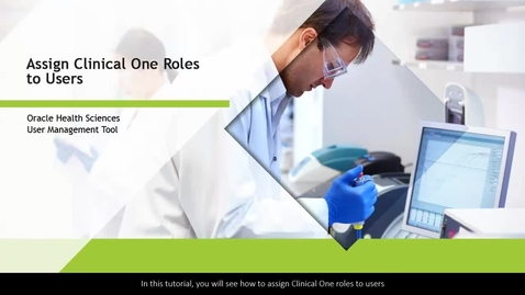 Thumbnail for entry Assign Clinical One Roles to Users