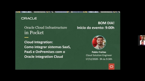 Thumbnail for entry OCI in Pocket - Cloud Integration: Como integrar sistemas SaaS, PaaS e OnPremises com o Oracle Integration Cloud