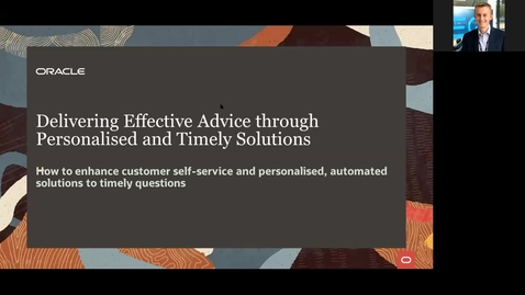 Thumbnail for entry CX Service Webinar: Delivering Effective Advice through Personalised and Timely Solutions