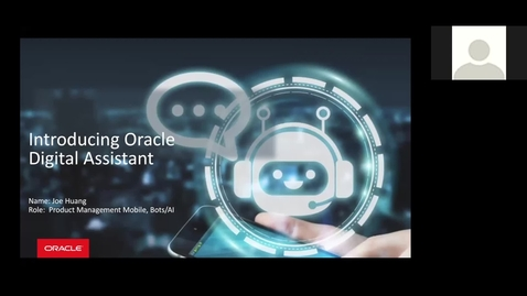 Thumbnail for entry Conversational Experiences with Oracle Digital Assistant for Oracle SaaS