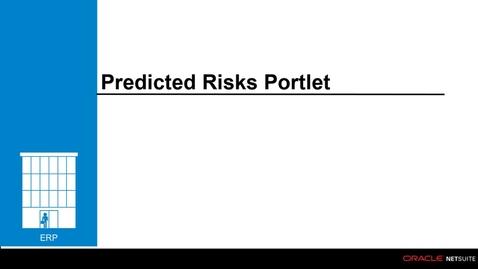 Thumbnail for entry ERP: Predicted Risks Portlet