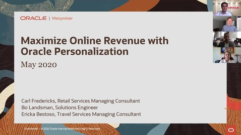 Thumbnail for entry Maximize Online Revenue with Oracle Personalization