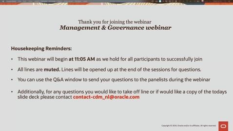 Thumbnail for entry Management & Governance - Cloud Digital Classroom delivered on 5 Feb 2020