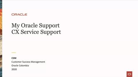Thumbnail for entry Soporte MOS & CX