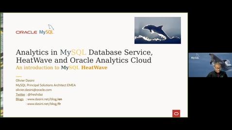 Thumbnail for entry Analytique avec MySQL Database Service, HeatWave et Oracle Analytics Cloud