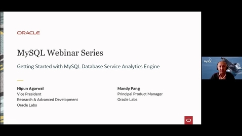 Thumbnail for entry Getting Started with Oracle MySQL Database Service and MySQL Analytics Engine