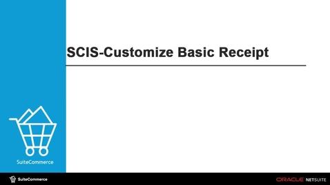 Thumbnail for entry SCIS Basic Receipts