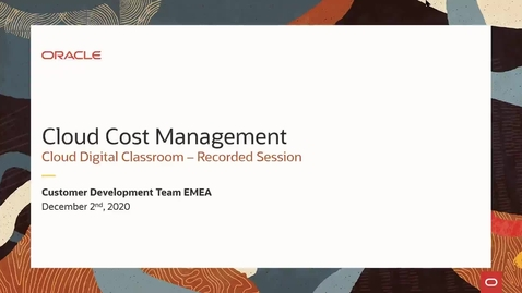 Thumbnail for entry Cloud Cost Management - 2nd December 2020