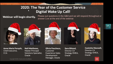 Thumbnail for entry CX Service Webinar: 2020: The Year of the Customer Service Digital Wake Up Call featuring guest speaker Anne-Marie Forsyth, Chief Executive at the CCA