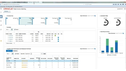 merchandising invoice match ap clerk 2 minute dashboard preview