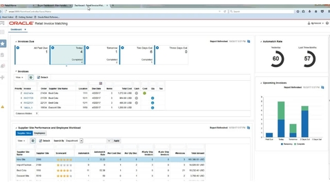 Thumbnail for entry Merchandising Invoice Match / AP Clerk 2-Minute Dashboard Preview
