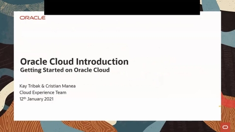 Thumbnail for entry Getting Started On Oracle Cloud - January 2021