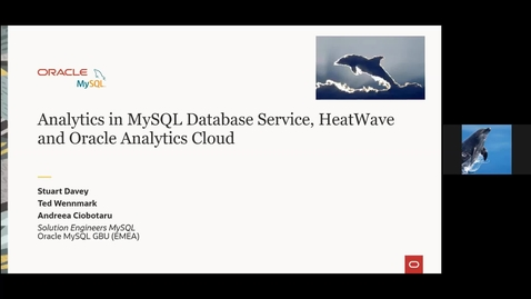 Thumbnail for entry Analytics in MySQL Database Service, HeatWave and Oracle Analytics Cloud