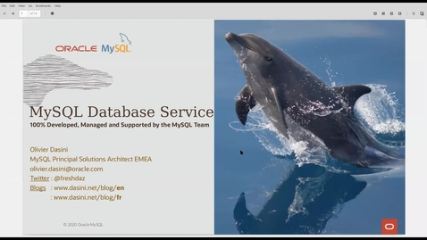 Thumbnail for entry Introduction à MySQL Database Service