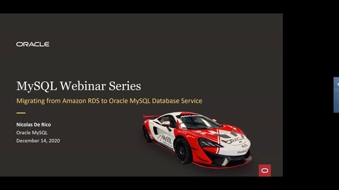 Thumbnail for entry Migrate from Amazon RDS to MySQL Database Service
