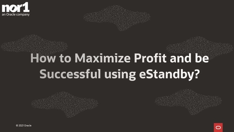 Thumbnail for entry How to Maximize Profit and be Successful using eStandby