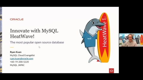 Thumbnail for entry Session 2 - Innovate with Oracle MySQL HeatWave