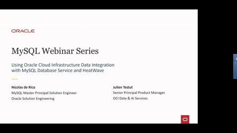 Thumbnail for entry Using OCI Data Integration with MySQL Database Service and HeatWave