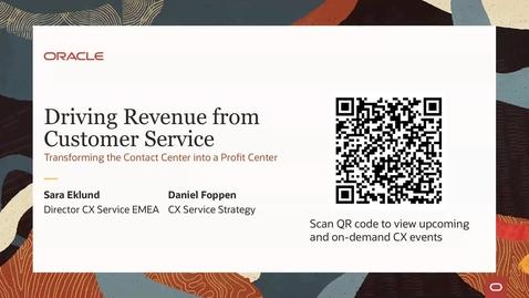 Thumbnail for entry CX Service Webinar: Transforming the Contact Center into a Profit Center