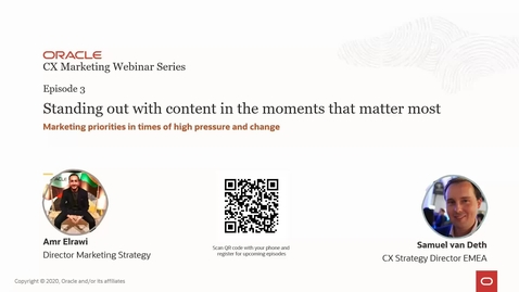 Thumbnail for entry Oracle CX Webinar: Stand out with content in the moments that matter most