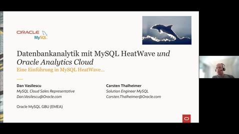 Thumbnail for entry Datenbankanalytik für MySQL, HeatWave und Oracle Analytics Cloud