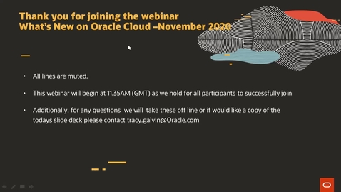 Thumbnail for entry Whats New @ Oracle Cloud - November Edition