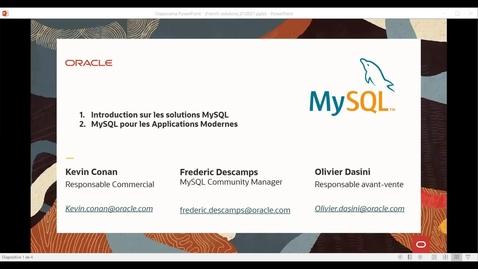 Thumbnail for entry MySQL pour les applications modernes