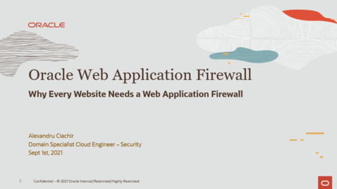 Thumbnail for entry Oraacle WAF - Why Every Website needs a Web Application Firewall