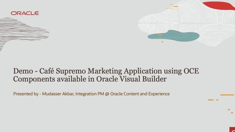 Thumbnail for entry Oracle Content - Integrating with Visual Builder (Part 2)