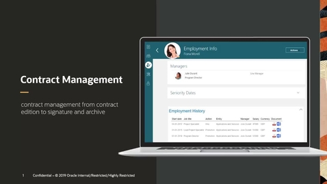 Thumbnail for entry Oracle HCM Cloud: Contract Management