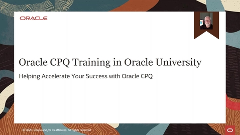Thumbnail for entry Oracle CPQ Training in Oracle University
