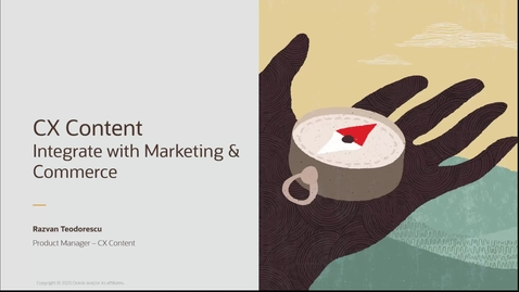 Thumbnail for entry CX Content - Integrate with Marketing and Commerce