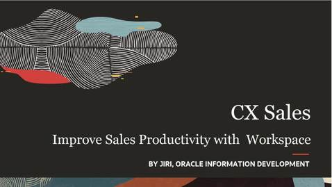 Thumbnail for entry Sales | Improve Sales Productivity with Workspace
