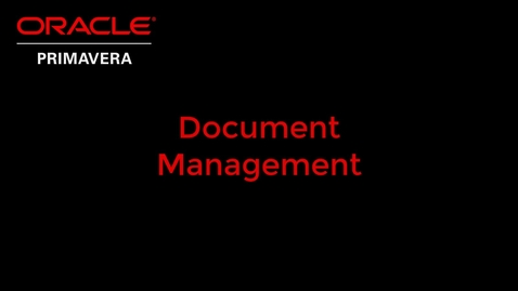 Thumbnail for entry Document Management