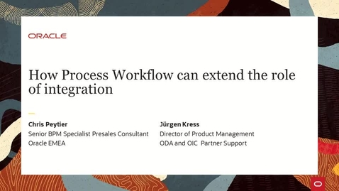 Thumbnail for entry How Process Workflow can extend the role of integration PaaS Partner Community Webcast