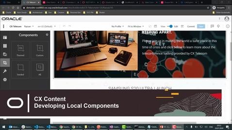 Thumbnail for entry CX Content - Develop custom components (Eloqua Form)