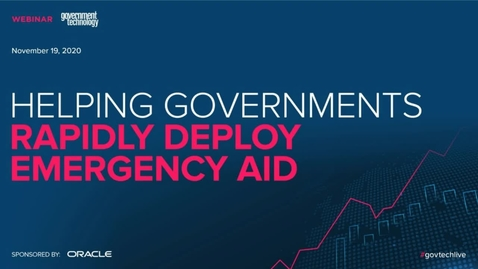 Thumbnail for entry Helping Governments Deploy  Rapidly Deploy Emergency Aid
