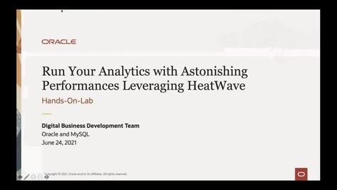 Thumbnail for entry Run Your Analytics with Astonishing Performances Leveraging HeatWave
