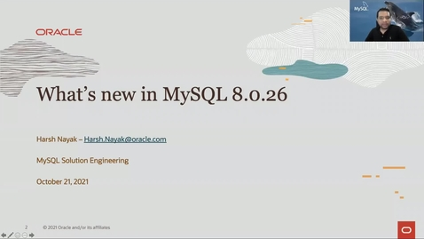 Thumbnail for entry What's New in MySQL 8.0.26