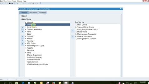 2325760.1 - Inbound Logistics Inter Org Transfer from Non WMS to WMS Org