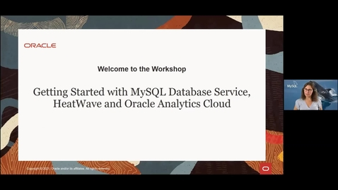 Thumbnail for entry Getting Started with MySQL Database Service, HeatWave and Oracle Analytics Cloud