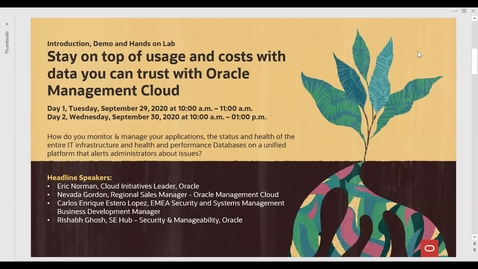 Thumbnail for entry Stay on top of usage and costs with data you can trust with Oracle Management Cloud